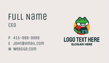 Frog Reptile Housing Business Card