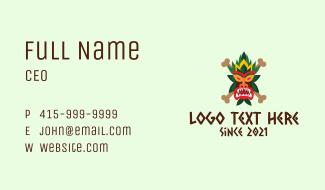 Scary Tiki Mask Business Card