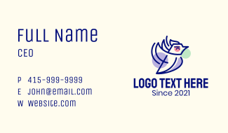 Flying Blue Jay Bird Business Card