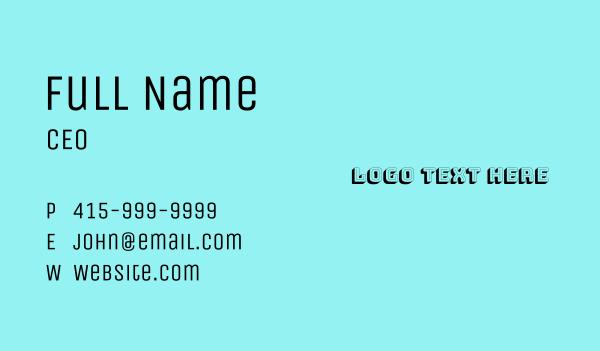 groovy - Retro Arcade Font Text Business card horizontal design