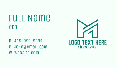 Letter M Finance Firm  Business Card