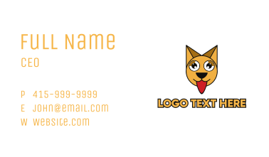 Hungry Polygon Cat Business Card