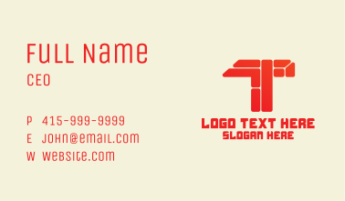 Letter T Brick Wall Business Card