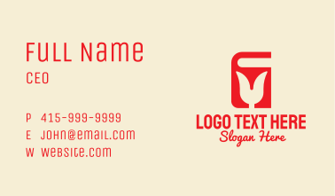 Red Tulip Book  Business Card