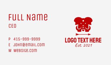 Red Elephant Arrow  Business Card