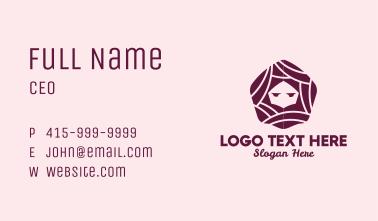 Hexagon Hair Salon Business Card