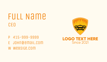 City Taxi Shield  Business Card