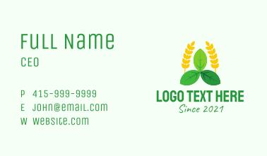 Natural Organic Farm Business Card