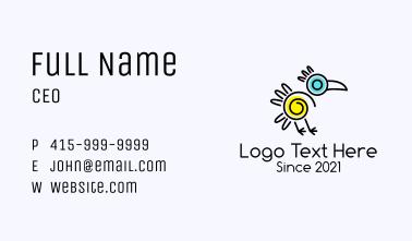 Minimalist Aztec Bird  Business Card