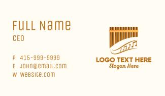 Bamboo Pan Flute Business Card