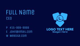 Blue Software Lettermark Business Card