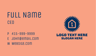 Home Key Gear  Business Card