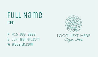 Mountain Forest Cabin Business Card