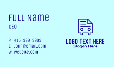 Document Mobile App  Business Card