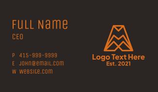 Orange Company Letter A  Business Card