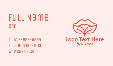 Natural Leaf Lips Business Card