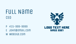 Eagle Game Controller Business Card