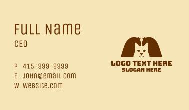 Cat Horses Business Card