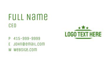 Military Design Wordmark Business Card