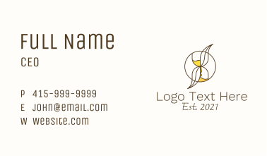 Hourglass Leaf  Business Card