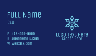 Snowflake Pattern Business Card
