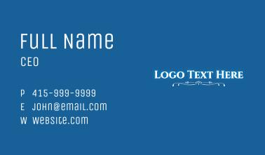 Magical Glow Wordmark Business Card