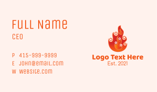 Fire Family Counseling  Business Card