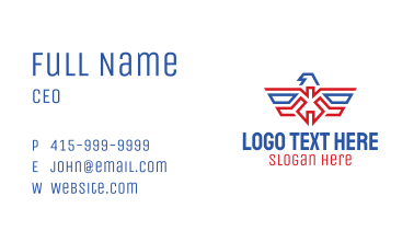 American Eagle Crest Business Card