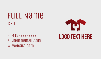 Wrench Clothing Mechanic Business Card