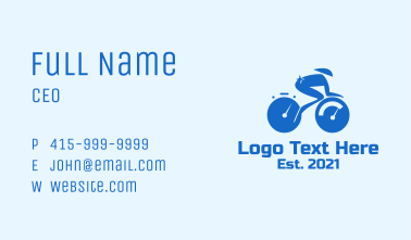 Cycling Tournament Mascot  Business Card