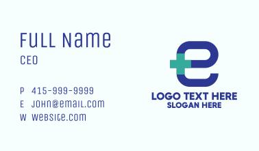 Medical Pharmacy Letter E Business Card