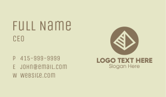 Pyramid Landmark Business Card