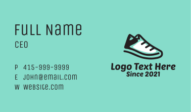 Hiking Sporty Sneakers  Business Card