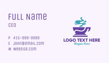 Purple Coffee Cup Business Card