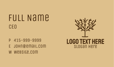 Brown Tree Park  Business Card