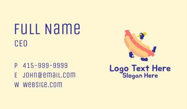 Hotdog Sandwich Cartoon  Business Card