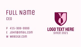 Shield Grape Wine Glass Business Card