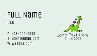 Dinosaur Toy Store  Business Card