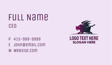 Fierce Dragon Business Card
